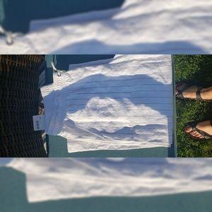 Athleta stripe bali linen crop pants size 14P